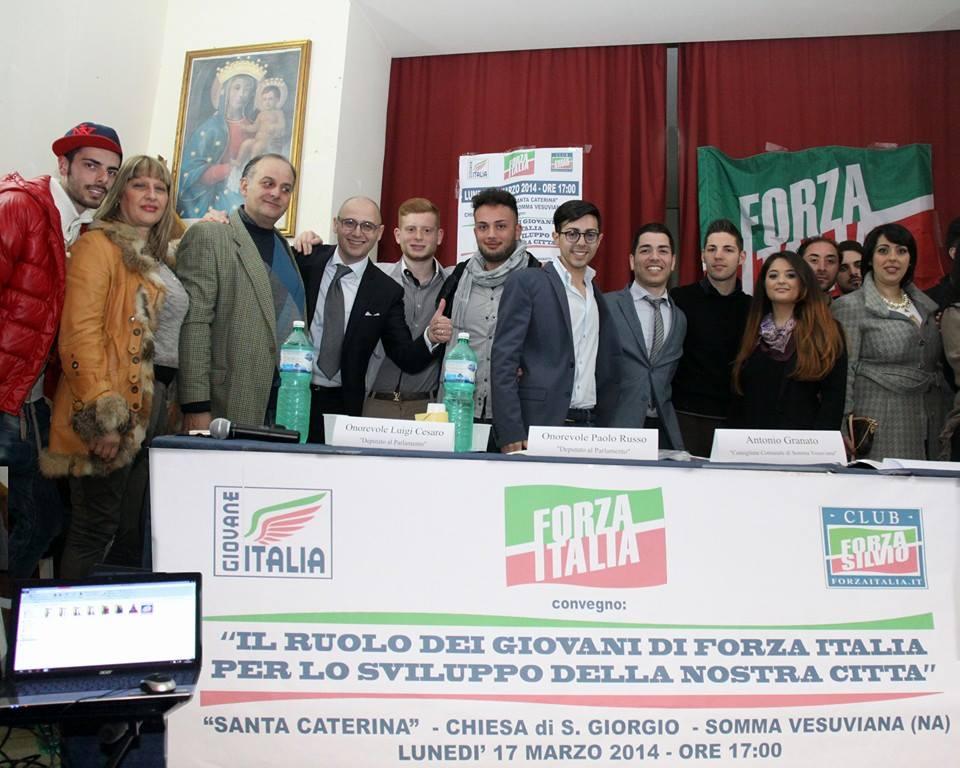 Somma vesuviana gioved inaugurazione della nuova sede di for Deputati di forza italia
